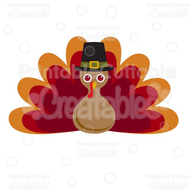 Thanksgiving Pilgrim Turkey SVG Cut File & Clipart