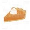 Pumpkin Pie Slice Free SVG Cut File & Clipart