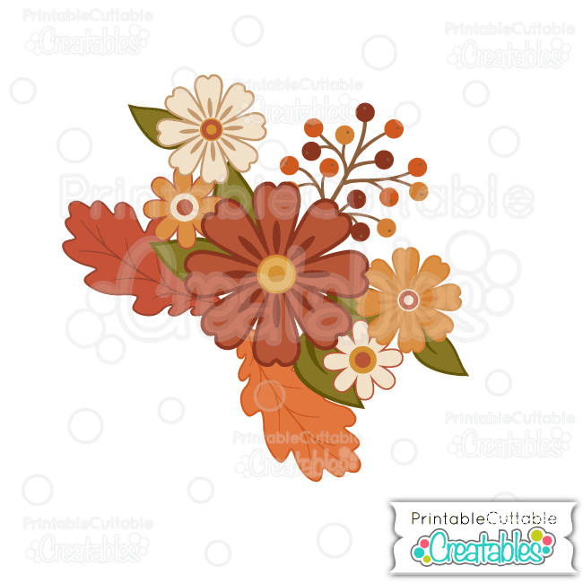 E203 Fall Flowers SVG Cutting File preview 2