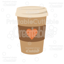 To Go Coffee Cup SVG Cut File & Clipart