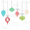 Hanging Christmas Ornaments SVG Cut Files Clipart