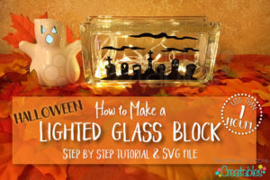 How to Make Lighted Glass Block Tutorial