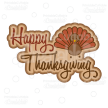 Happy Thanksgiving SVG Cut File Scrapbook Title