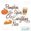 Pumpkin Spice & Everything Nice SVG Cut File Scrapbook Title 2