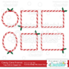 Candy Cane Frames Free SVG Digital Die Cutting Shapes