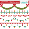 Deck the Halls Christmas Banners SVG Cut Files Set