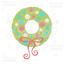 Polka Dot Christmas Wreath Free SVG Cut File & Clipart