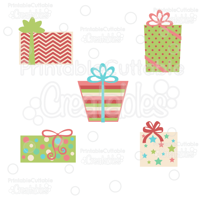 Christmas Presents SVG Cut Files & Clipart