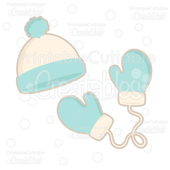 09b7791f9c4 Winter Hat   Mittens FREE SVG Cutting Files   Clipart