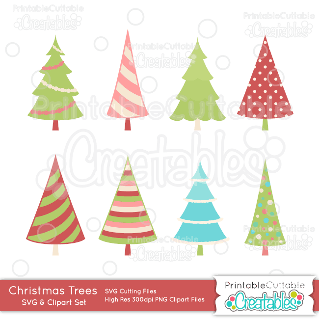 Christmas Tree SVG Cut File & Clipart Set