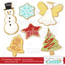 Christmas Cookies SVG Digital Die Cutting Files Set