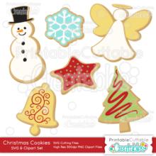 Christmas Cookies SVG Digital Die Cutting Files Set