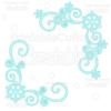 Snowflake Corner Flourishes SVG Cut Files & Clipart 2