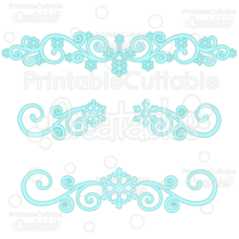 Snowflake Flourishes SVG Cut Files & Clipart