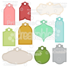 Holiday Gift Tags SVG Cut Files Set
