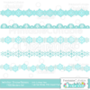 Winter Snowflake Borders Free SVG Cut Files & Clipart Set