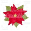 Christmas Flower Poinsettia SVG Cut File & Clipart