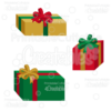 Christmas Presents SVG Cut Files & Clipart Set