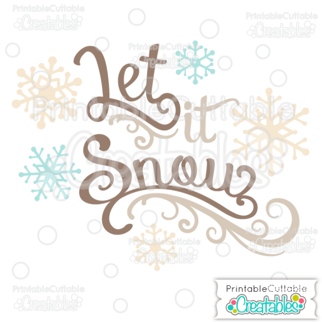 T040 Let it Snow Scrapbook Title SVG Cut File preview et2