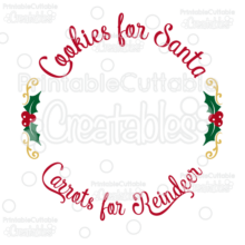 Cookies for Santa Free SVG Cut File Plate Design