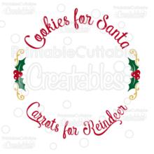 Cookies for Santa Free SVG Cut File Plate Design