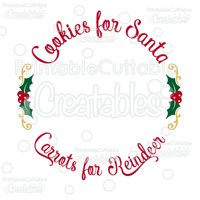Free printable border designs for paper - Cookies For Santa Free Svg Cut File Plate Design