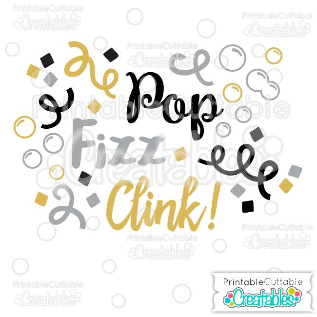 T043 Pop Fizz Clink Title SVG Cut File preview 2