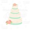 Wedding Cake SVG Cut File & Clipart
