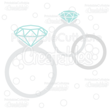 Wedding Rings Free SVG Cut File Monogram Frame