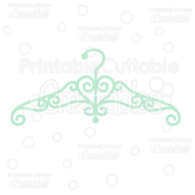 Fancy Swirly Dress Hanger SVG Cut File & Clipart