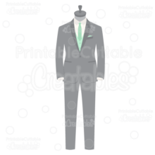 Wedding Groom Tuxedo SVG Cut File