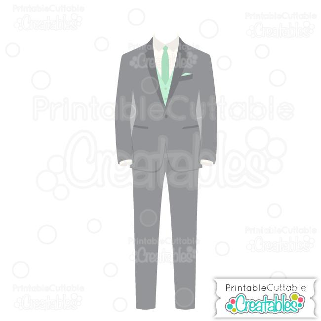 E228 Wedding Groom Tuxedo SVG Cut File preview et2