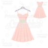 Bridal Party Bridesmaid Dress SVG Cut File