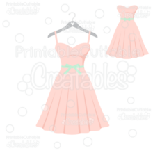 Bridal Party Bridesmaid Dress SVG Cut File
