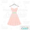 Bridal Party Dress SVG Cut File