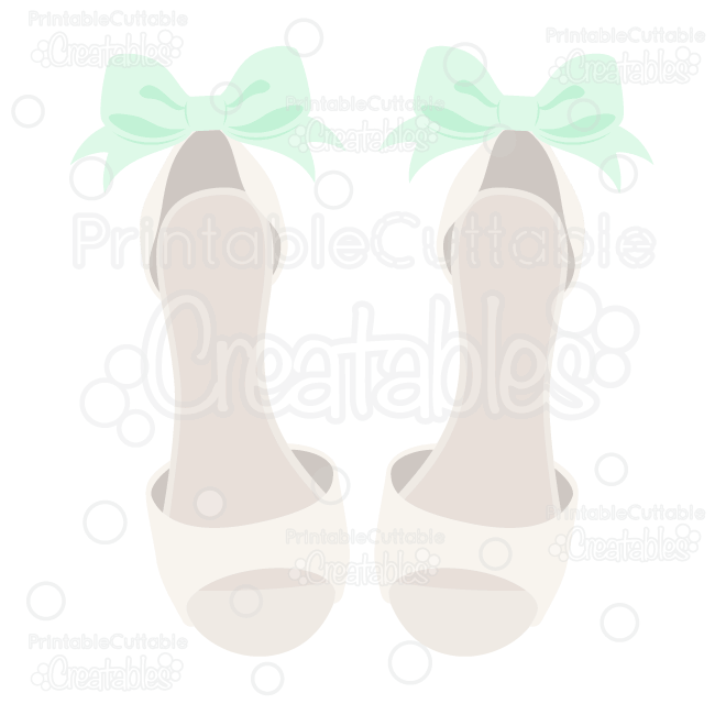 8c357adfb08ec Dressy Wedding Shoes SVG Cut File for Silhouette Cameo, Cricut ...