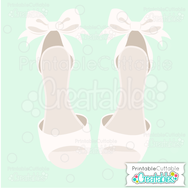 Dressy Wedding Shoes SVG Cut File