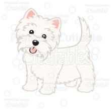 Cute Western Highland Terrier Dog SVG Cut File
