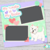 Westie Högland Terrier SVG File Scrapbook idea