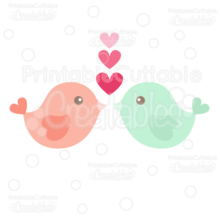 Heart Love Birds Free SVG Cut File