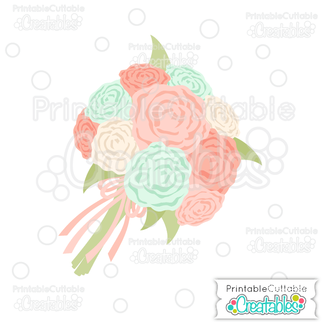 E233 Wedding Flower Bouquet SVG Cut File preview et2