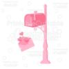 Valentine's Letter & Mailbox SVG Cut File