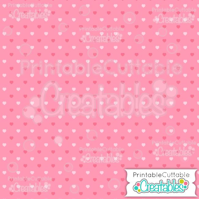 01 Pink Half Drop Polka Dot Hearts Seamless Pattern Digital Paper preview