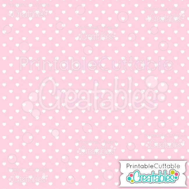 02 Lt Pink Polka Dot Hearts Seamless Pattern Digital Paper preview