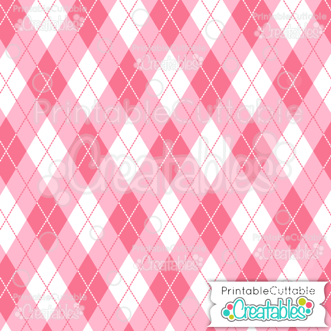 02 Multi Pink Argyle Digital Paper Seamless Pattern Tile preview