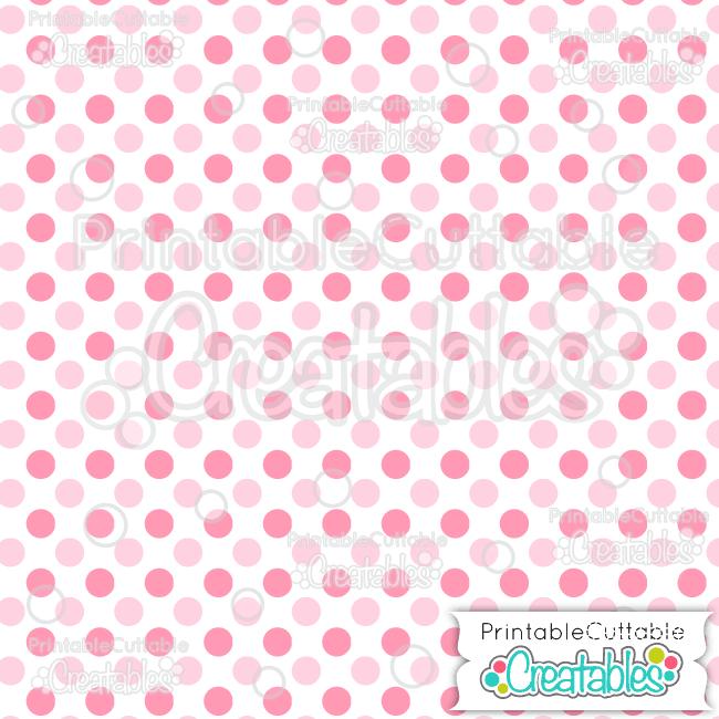 02 White Multi Pink Large Polka Dots Free Seamless Patterns Digital Paper preview