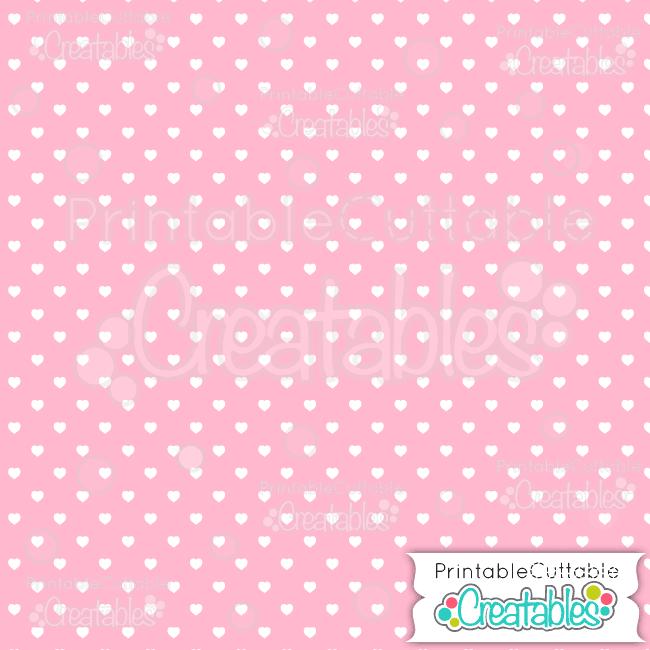 03 Med Pink Polka Dot Hearts Seamless Pattern Digital Paper preview