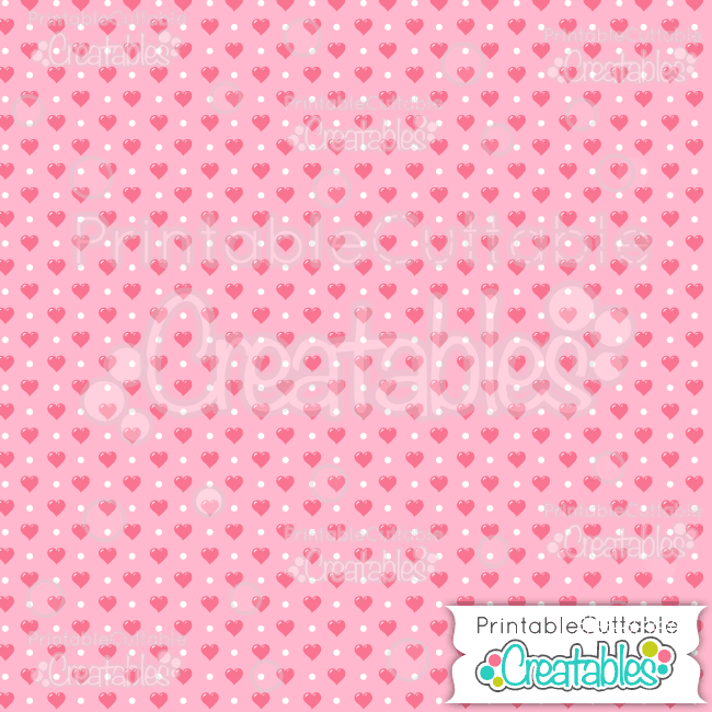 03 Mini Heart Polka Dots Digital Paper Seamless Pattern Tile preview