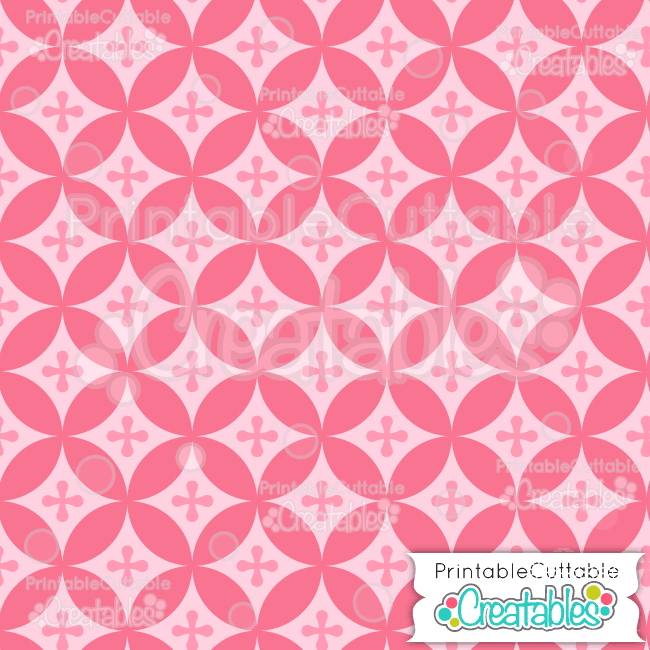 04 Pink Interlocking Circles Digital Paper Seamless Pattern Tile preview