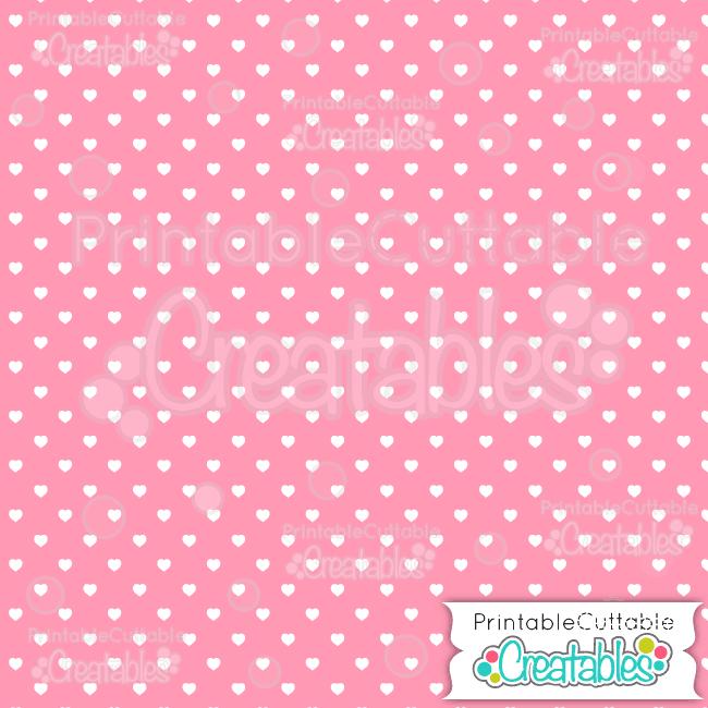 04 Pink Polka Dot Hearts Seamless Pattern Digital Paper preview